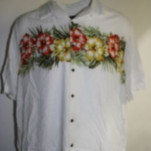 George 3XL Floral Pattern Casual Button Front Down